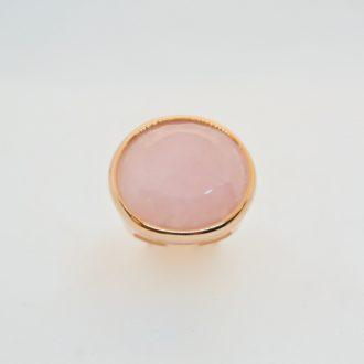 bronzallure anillo cuarzo rosa
