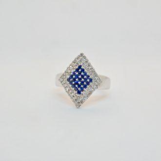 anillo oro con zafiros