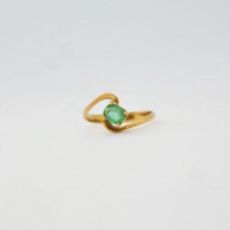 anillo vintage esmeralda