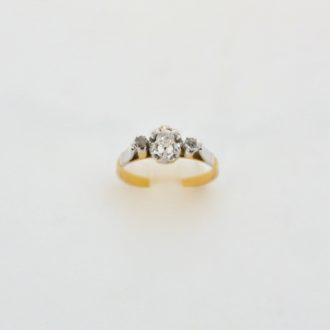 anillo vintage diamante