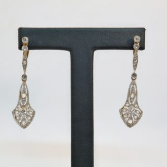 pendientes Art Deco diamantes