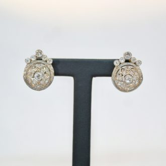 Pendientes art nouveau diamantes